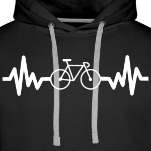 bike is life - cycling Sweaters - Mannen Premium hoodie
