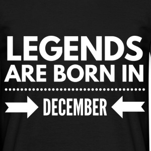 Legends December T-shirts - Mannen T-shirt