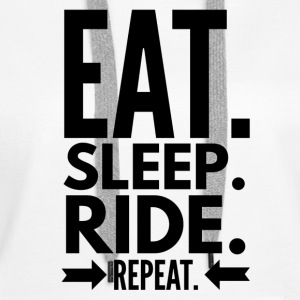 Eat Sleep Ride Repeat Sweat-shirts - Sweat-shirt à capuche Premium pour femmes