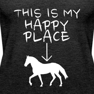 Happy Place Horse Tops - Frauen Premium Tank Top