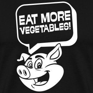 Eat more vegetables! - Männer Premium T-Shirt