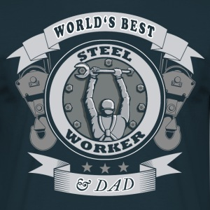 world's best steelworker - Männer T-Shirt