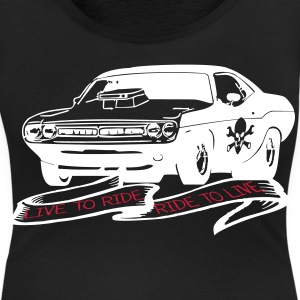 Challenger live to ride r Tee shirts - T-shirt col rond U Femme