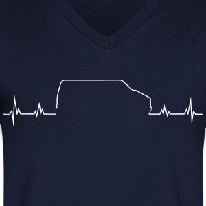 Bus heartbeat T-Shirts - Men's V-Neck T-Shirt