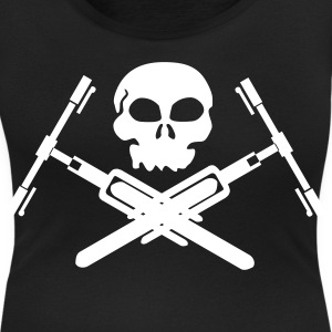 Skull bike T-Shirts - Women's Scoop Neck T-Shirt