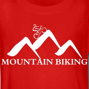Mountain biking-wit Shirts met lange mouwen - Teenager Premium shirt met lange mouwen