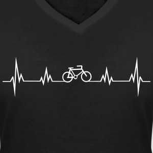 Heartbeat T-Shirts - Women's V-Neck T-Shirt
