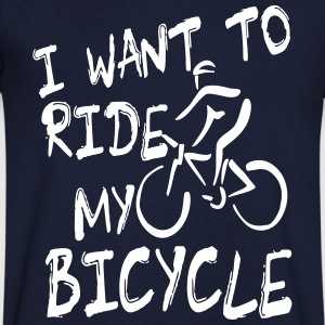 I want to ride my bicycle T-shirts - T-shirt med v-ringning herr