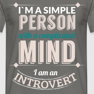 I'm a simple person with a complicated mind I am a - Men's T-Shirt