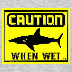 caution when wet dk T-shirts - Herre-T-shirt