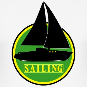 sailing x_vec_3 us T-Shirts - Männer Slim Fit T-Shirt