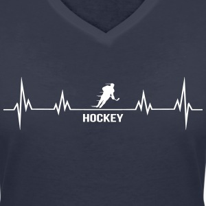 Heartbeat hockey T-Shirts - Women's V-Neck T-Shirt
