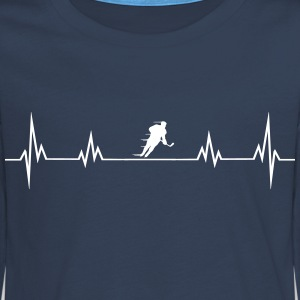 Heart rate hockey1 Long Sleeve Shirts - Teenagers' Premium Longsleeve Shirt