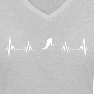 Heart rate hockey1 T-Shirts - Women's V-Neck T-Shirt