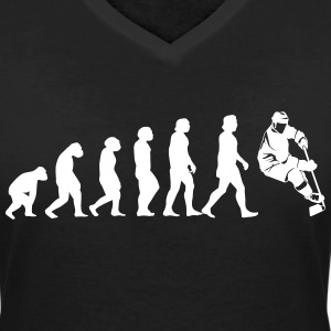 Evolution Hockey T-Shirts - Women's V-Neck T-Shirt