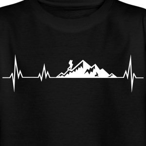 Heartbeat mountains wadnerer Shirts - Teenage T-shirt