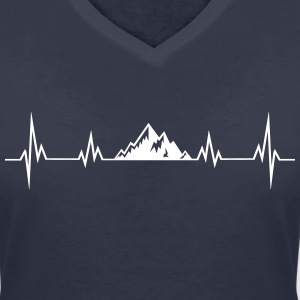 Heartbeat mountains T-Shirts - Women's V-Neck T-Shirt