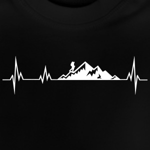 Heartbeat mountains wadnerer Baby Shirts  - Baby T-Shirt