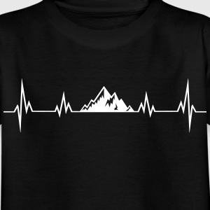 Heartbeat mountains Shirts - Kids' T-Shirt