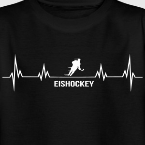 Heartbeat-ijshockey Shirts - Teenager T-shirt