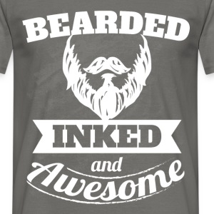 Bearded inked and awesome - Men's T-Shirt