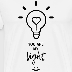 you are my light - Premium T-skjorte for menn