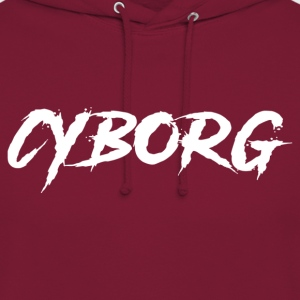 Sweat bordeaux à capuche Cyborg - Sweat-shirt à capuche unisexe