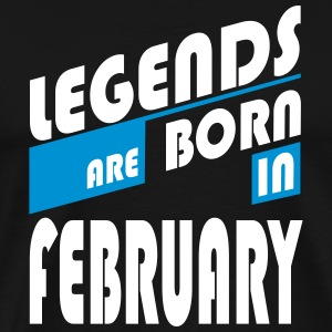 Legends Februar T-shirts - Herre premium T-shirt