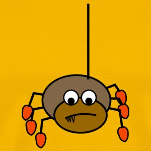 Brown spider with red shoes - Männer Premium T-Shirt