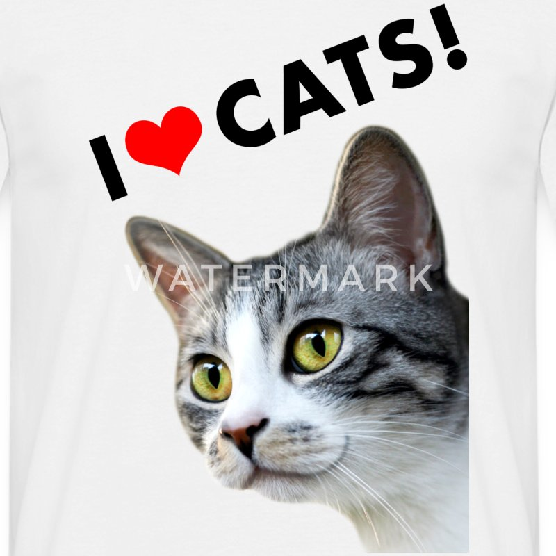 i heart cats ich liebe katzen ein herz f r katzen t shirt spreadshirt. Black Bedroom Furniture Sets. Home Design Ideas