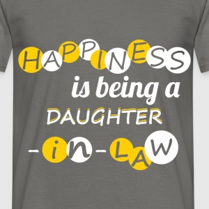 Happiness is being a daughter-in-law! - Men's T-Shirt