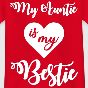 My auntie is my bestie T-shirts - Børne-T-shirt