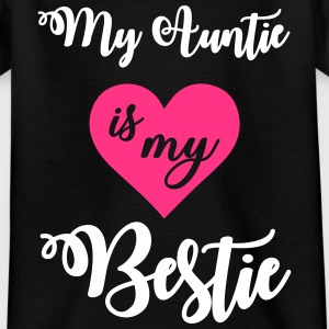 My auntie is my bestie Camisetas - Camiseta niño