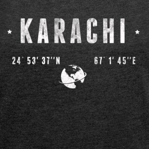 Karachi T-Shirts - Women's T-shirt with rolled up sleeves