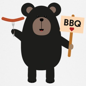 BBQ black bear with sausage Baby Long Sleeve Shirts - Baby Long Sleeve T-Shirt