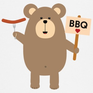BBQ - brown bear with sausage Baby Long Sleeve Shirts - Baby Long Sleeve T-Shirt