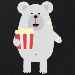 Polar bear with popcorn Shirts - Kids' Organic T-shirt