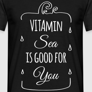 Vitamin-sea is good for you Welle Meer Strand  T-Shirts - Männer T-Shirt