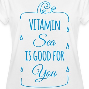 Vitamin-sea is good for you Welle Meer Strand  T-Shirts - Frauen Oversize T-Shirt