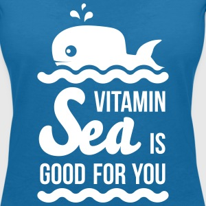 Vitamin-sea is good for you Welle Meer Strand Wal T-Shirts - Frauen T-Shirt mit V-Ausschnitt