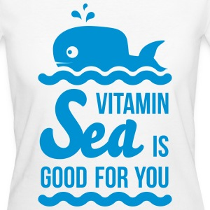 Vitamin-sea is good for you Welle Meer Strand Wal T-Shirts - Frauen Bio-T-Shirt