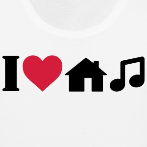 I Love House Music Sports wear - Men's Premium Tank Top