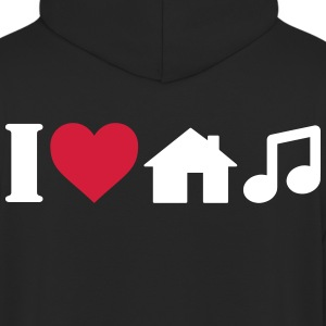 I Love House Music Hoodies & Sweatshirts - Unisex Hoodie