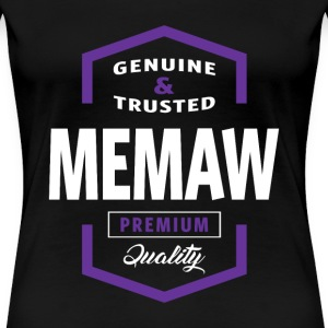 Genuine Memaw Tees - Women's Premium T-Shirt