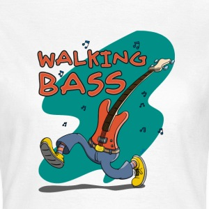 Walking Bass - Jazz Bassgitarre T-shirts - Vrouwen T-shirt