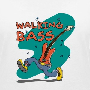 Walking Bass - Jazz Bassgitarre T-Shirts - Frauen T-Shirt mit V-Ausschnitt