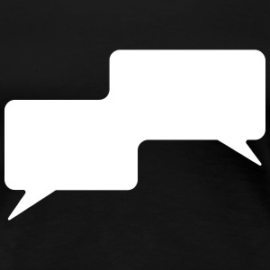 Speech bubble, pratbubbla, komisk bubbla, comics T-shirts - Premium-T-shirt dam