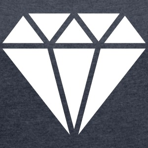Diamant symbool, driehoek, forever, swag style T-shirts - Vrouwen T-shirt met opgerolde mouwen