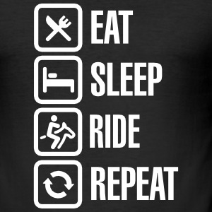 Eat sleeps horse ride repeat Tee shirts - Tee shirt près du corps Homme