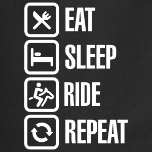 Eat sleeps horse ride repeat Kookschorten - Keukenschort